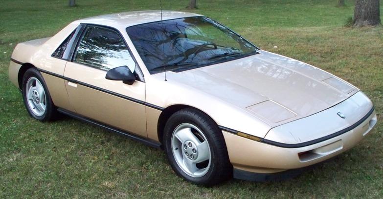 Gold 1987 Pontiac Fiero 3100 Sfi